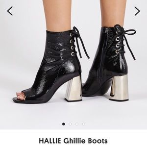 Topshop HALLIE Ghillie Open Toe Ankle Boot